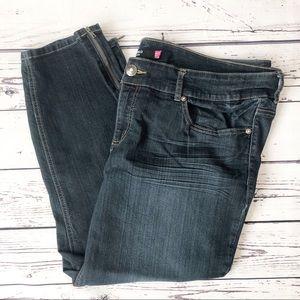 Torrid skinny ankle zip jeans